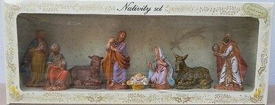 NATIVITY SCENE FIGURES,7 pc to 9 cm,Crib,Christmas,Exclusive Made Italy No. 3