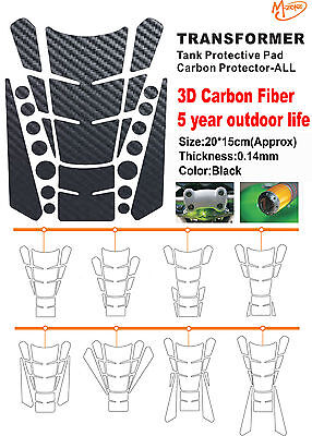 3D Carbon Fiber Tank Pad Tankpad Protector Sticker For Motorcycle Universal/