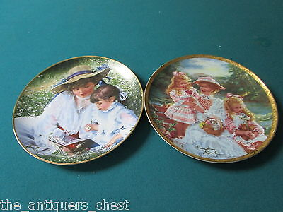 """Sandra Kuck Victorian Mothers collector plates """"Loving Touch"""" & """"... [am6]"""