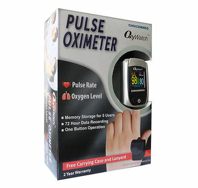 Choicemmed FDA CE FingerTip Pulse Oximeter Monitor Blood Oxygen SpO2 OLED Color
