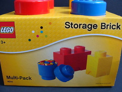 NEW LEGO Storage Brick Multi-Pack Set 4014 Project Case 2 Stud Red Organizer NIB