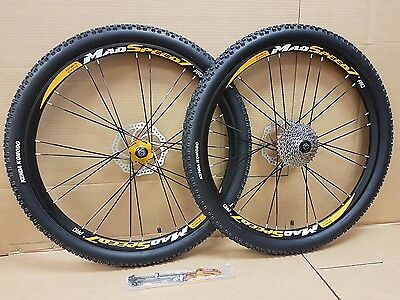 "26"" MTB Mountain Bike Disc Brake Wheel Set Fitted with Kenda Tyres 8/9/10 Speed"