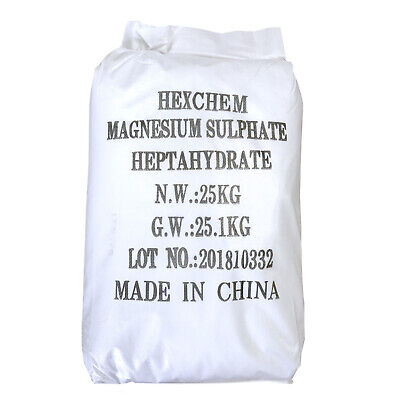 EPSOM SALT | 10x 25KG BAG | Pharmaceutical | Food Grade | Magnesium Sulphate