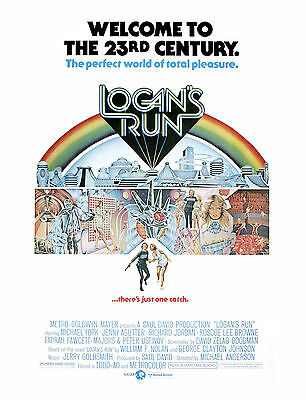 Reproduction Classic Movie Poster - Logan's Run