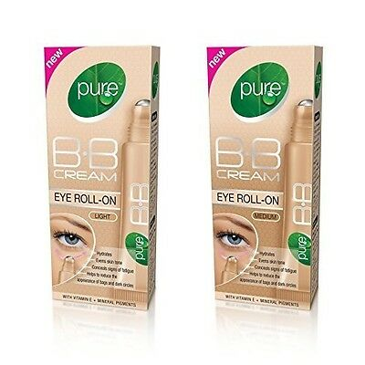 Pure Bb Cream Tinted Eye Roll On Dark Circles Concealer Light Medium No Parabens