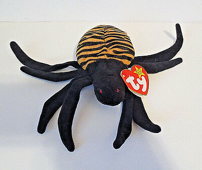 """Ty Beanie Babies Baby """"Spinner"""" the Spider 1996 – Retired"""