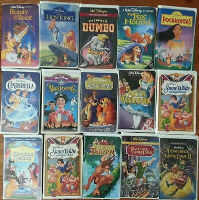 Walt Disney Warner Brothers Paramount VHS Beauty in the Beast Lion King Dumbo