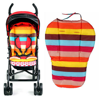 Baby Stroller Pram Pushchair Cushion Pad Thick Cotton Buggy Mat Cover Waterproof