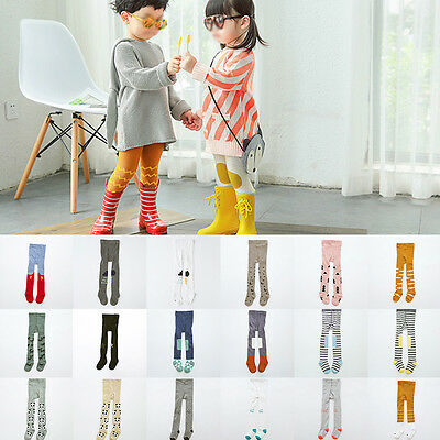 Baby Toddler Kids Girls Boys Cotton Tights Stockings Pantyhose Pants Trousers
