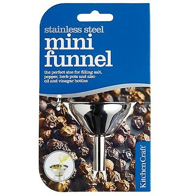 Kitchen Craft Stainless Steel Mini Funnel 5.5cm 1