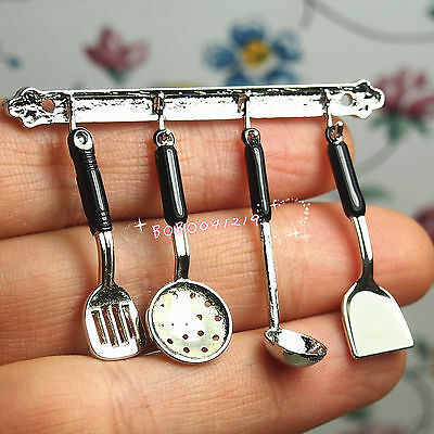 5PCS//SET 1//12 Dollhouse Cooking Hanging Utensils Tool For Dollhouse Toys D1Z6