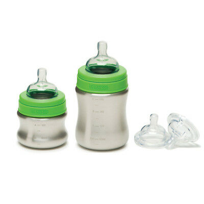 Klean Kanteen Stainless Steel Baby Bottle w/ Medical Grade Nipple -Choice Sizes