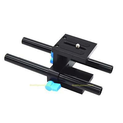 15mm Rail Rod Support System Baseplate Mount for DSLR Follow Focus Rig Matteboxc