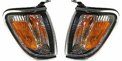 2001 2002 2003 2004 Toyota Tacoma Corner Lamp Light Chrome Left And Right Pair