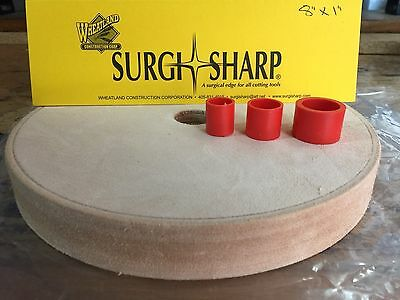 """Surgi-Sharp Leather Covered 8""""x 1"""" Wheel Now Available From 5 Star Aussie Seller"""