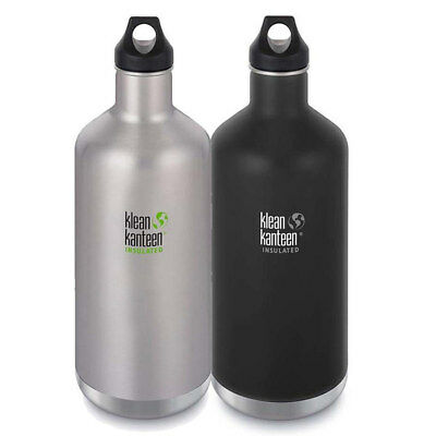Klean Kanteen Classic 1.9L 64oz Insulated Drink Bottle  - Hot 12hr / Ice 24hr