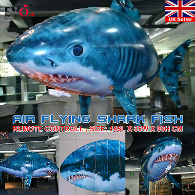 Air Flying Shark Fish Swimmer -Children Kids XMAS Gift -Remote Controlled RC Toy