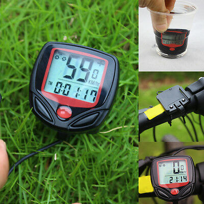 Bike Waterproof Computer Speedometer LCD Bicycle Electronic Wired Cycling HOT