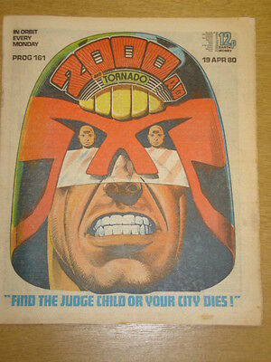 2000Ad #161 British Weekly Comic Judge Dredd Apr 1980 *