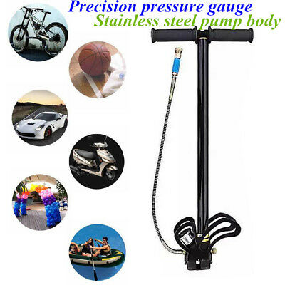 High Pressure Hand Pump Water cooling 3-Stage Hand Air Inflator f/ PCP Air Rifle