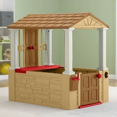 Playhouse For Kids Toddler Toys Cottage Outdoor Indoor Child Plastic Play House