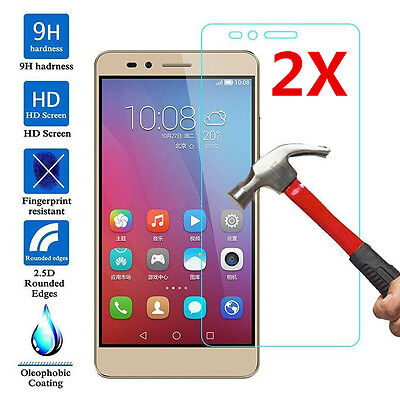 2Pcs 9H Real Tempered Glass Film Cover Screen Protector For Huawei Honor 7 5X 5C