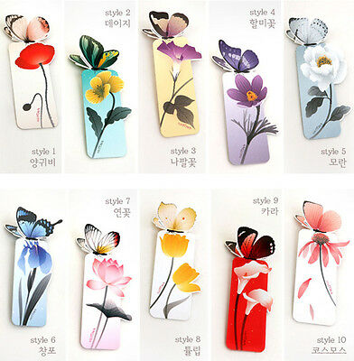 10Pc Cute Butterfly Book Mark Bookmark Paper Clip Stationery School Office Gifts
