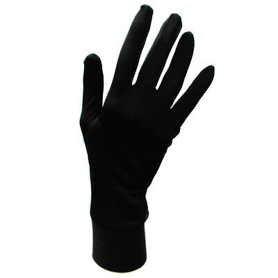 Jasmine Silk Pure Silk Liner Gloves Thermal Ski Inner Gloves - BLACK