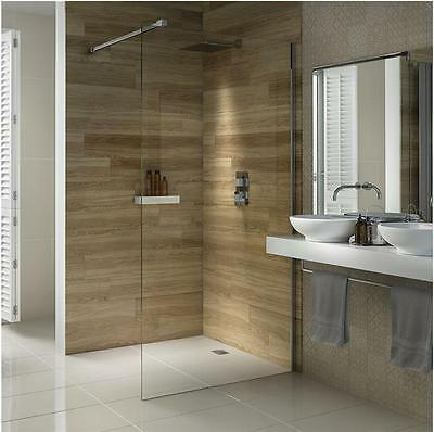 Walk In Shower Panel 8mm Glass Screen Enclosure Wet Room Free 24hr Delivery