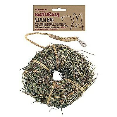 Rosewood Boredom Breaker Small Animal Activity Toy Naturals Alfalfa Ring