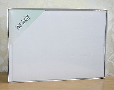 Plain white guest book, great to decorate, wedding or any occasion. Boxed