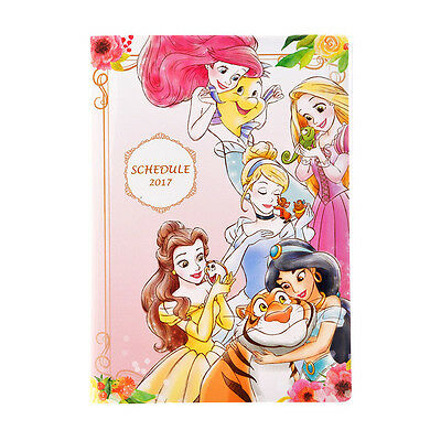 Disney Store Japan 2017 Schedule Book ❤ Princess A6 Monthly Planner