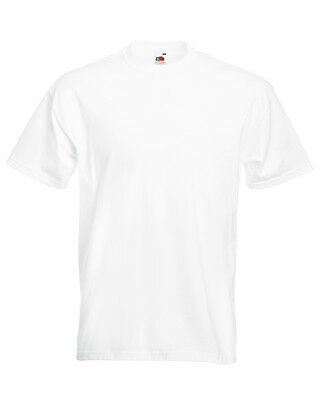 MENS 100% COTTON T-SHIRT Fruit of the Loom SUPER PREMIUM T SHIRT: Small - 5XL
