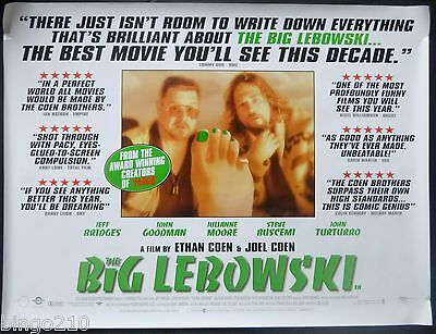 The Big Lebowski Original 1998 Quad Poster Jeff Bridges Coen Brothers