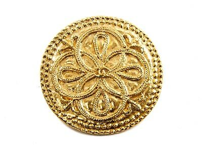 Authentic Chanel circular shaped Brooch pin clasp