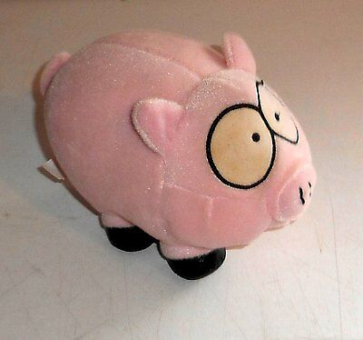 """Vintage 1998 Comedy Central South Park - FLUFFY THE PIG - 4"""" Plush Toy (C48)"""
