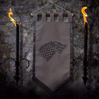 House STARK Banner Standard Game of Thrones Arya dire wolf curtain Spangled snow