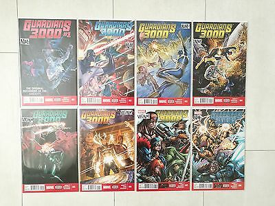 Guardians 3000 #1-8 Complete set (1st Prints) VF/NM 2014 Guardians of the Galaxy