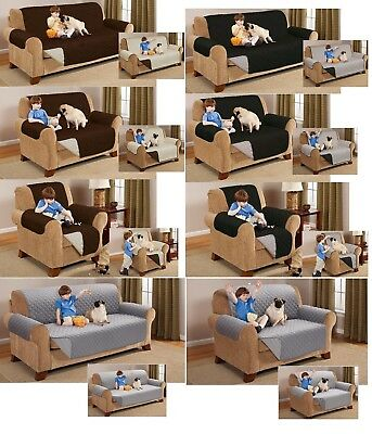 Reversible Sofa Protector Throw Furniture Slip Cover Water Resistant 1/2/3Seater