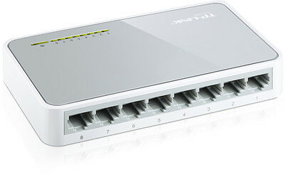 NEW TP-LINK TL-SF1008D 10/100Mbps 8 PORT DESKTOP NETWORK ETHERNET LAN SWITCH