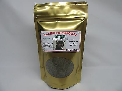 CATNIP 2oz Fresh Dried fine ground (Nepeta Cataria) Organic USA grown FREE SHIP
