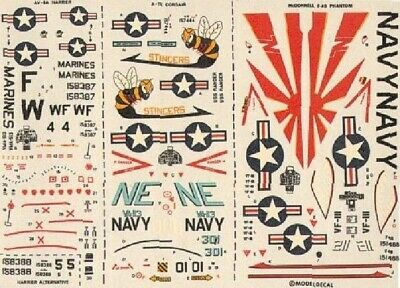 Modeldecal 15 1/72 USN and USMC Model Decals
