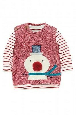 Next Christmas Baby 2 Pieces Set Top and Vest Snow Man Size Up to 3mths