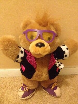 "Teddy Grahams 10"" Plush Bear 1990 EUC retro 80's style"