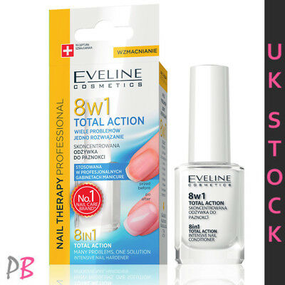 EVELINE 8in1 NAILS CONDITIONER TOTAL ACTION SERUM NAIL 8 IN 1 STRENGTHENER UK