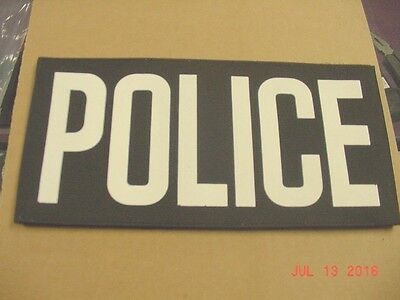 POLICE  Patches Hook and Loop / with White Or Reflective  lettering .