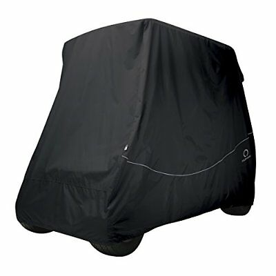 Classic Accessories Fairway Golf Cart Quick Fit Cover, Black, Long Roof