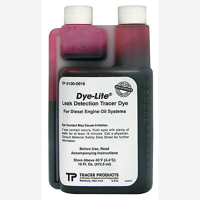 Tracerline TP3100-0016 Leak Detection Dye, for Diesel Engine Oil 16 Oz.