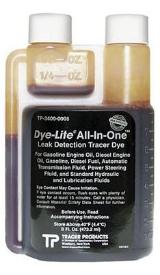 Tracerline TP3400-0008 Leak Detection Dye, for Engine or Transmission Oil 8 Oz.