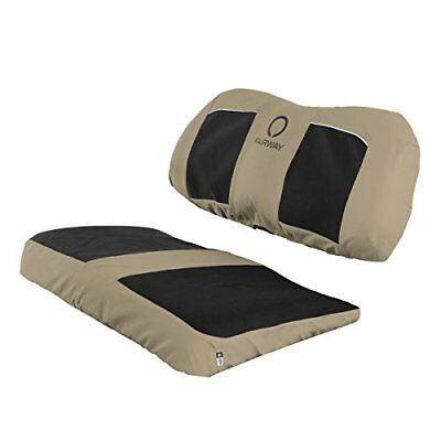 Classic Accessories Fairway Golf Cart Neoprene Paneled Bench Seat Cover, Khaki